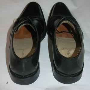 Dolce & Gabbana Black Leather Men Lace Up Oxfords